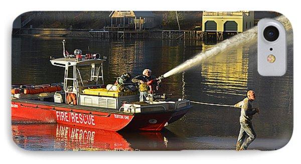 Fire Boat Phone Case by Susan Leggett