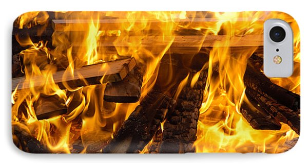 Fire - Burning Wood Phone Case by Matthias Hauser