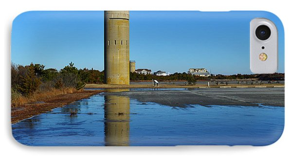 Fire Control Tower 3 Icy Reflection IPhone Case by Bill Swartwout