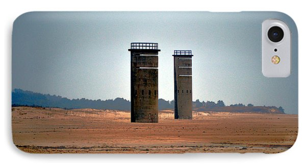 Fct5 And Fct6 Fire Control Towers On The Beach IPhone Case by Bill Swartwout