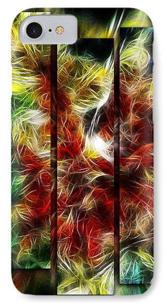 IPhone Case featuring the digital art Fire Dancers Triptych by Selke Boris