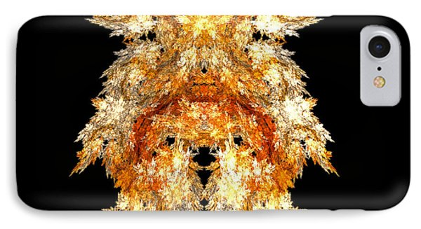 IPhone Case featuring the digital art Fire Dog by R Thomas Brass