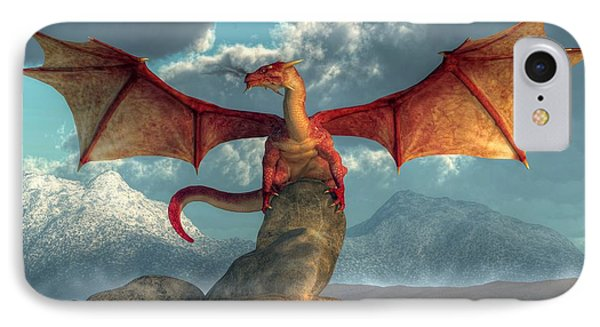 Fire Dragon IPhone Case by Daniel Eskridge