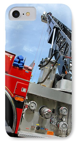 Fire Engine Phone Case by Olivier Le Queinec