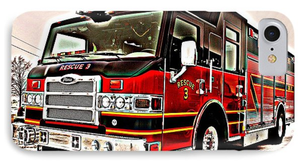 Fire Engine Red Phone Case by Frozen in Time Fine Art Photography