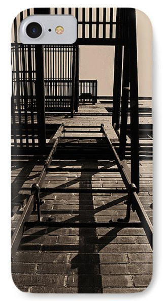 Fire Escape Sepia IPhone Case by Don Spenner