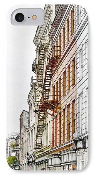 Fire Escapes New Orleans IPhone Case by Christine Till