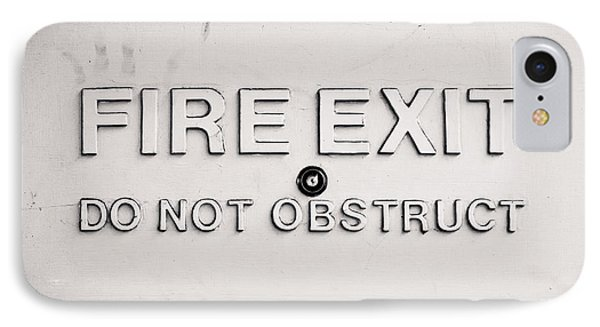 Fire Exit Sign IPhone Case by Tom Gowanlock