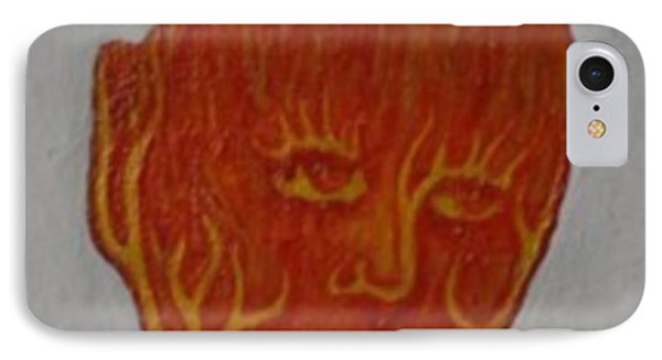 Fire Face IPhone Case by Steve  Hester
