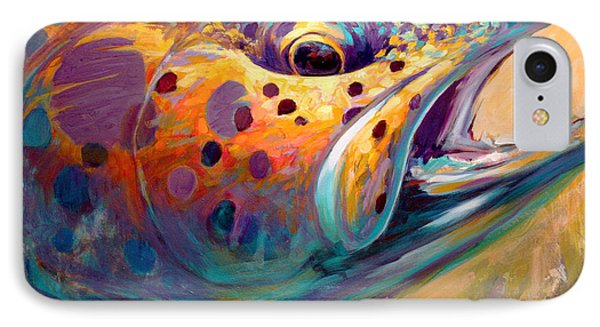Fire From Water - Rainbow Trout Contemporary Art IPhone 7 Case by Savlen Art