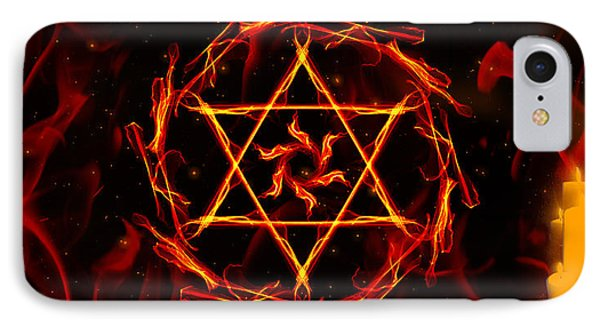 Fire Hexagram IPhone Case by Persephone Artworks