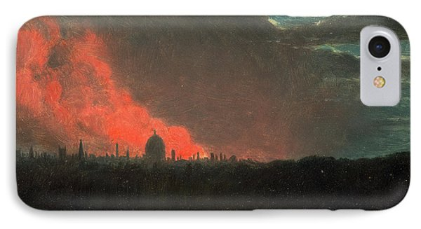 Fire In London, Seen From Hampstead The Burning IPhone Case