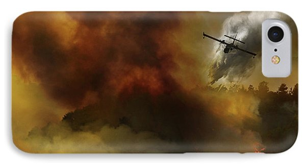 Fire In National Park Of Cilento (sa) - Italy IPhone Case