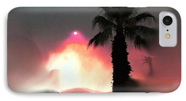 Fire In The Desert Beauty And The Beast IPhone Case by Sherri's Of Palm Springs