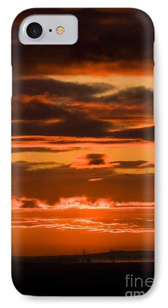 Fire In The Sky Phone Case by Anne Gilbert