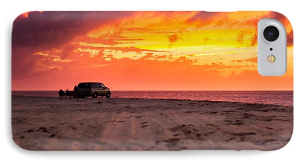 Fire In The Sky IPhone Case by Brian Caldwell