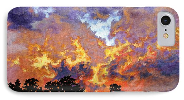 Fire In The Sky IPhone Case by Craig T Burgwardt