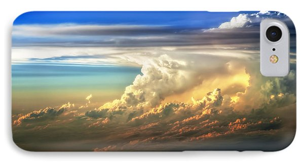 Fire In The Sky From 35000 Feet IPhone Case by Scott Norris