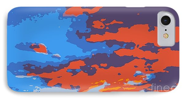 Fire In The Sky Phone Case by James Eye