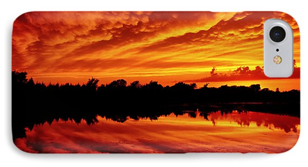 Fire In The Sky IPhone Case by Jason Politte