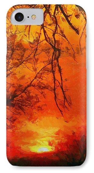 Fire In The Sky Phone Case by Jeffrey Kolker