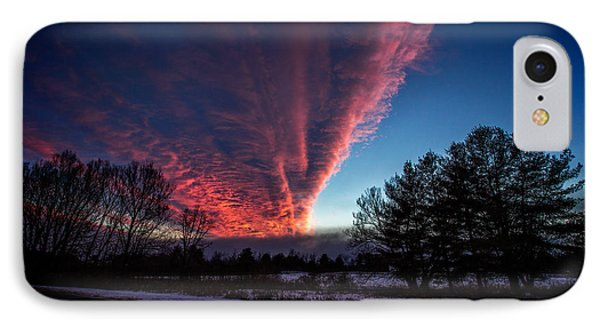 Fire In The Sky Phone Case by Jerry Mattice