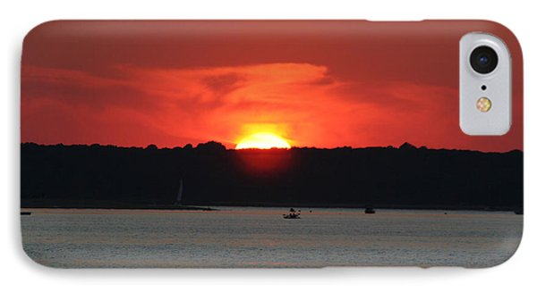 IPhone Case featuring the photograph Fire In The Sky by Karen Silvestri