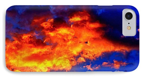 Fire In The Sky IPhone Case