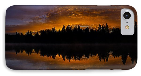 Fire In The Sky IPhone Case by Nancy Marie Ricketts