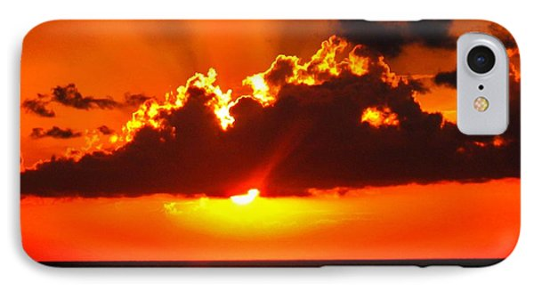 IPhone Case featuring the photograph Fire In The Sky by Patti Whitten