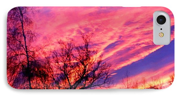 Fire In The Sky Phone Case by Randy Saragosa