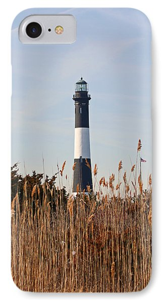 IPhone Case featuring the photograph Fire Island Tower by Karen Silvestri