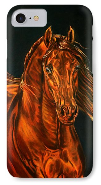 IPhone Case featuring the painting Fire by Leena Pekkalainen