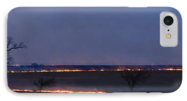 Fire Lines At Night IPhone Case by Scott Bean