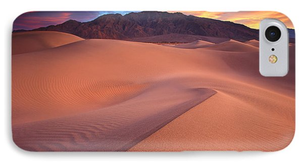 Fire On Mesquite Dunes Phone Case by Darren  White