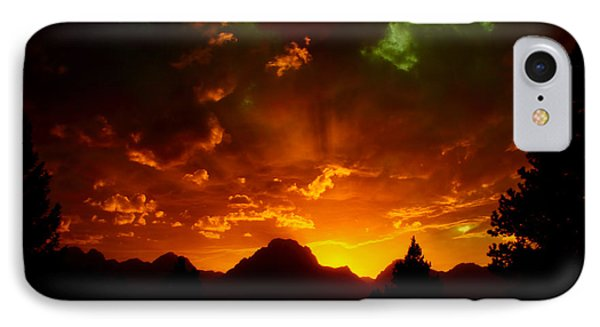 Fire On The Mountain - Grand Teton National Park IPhone Case