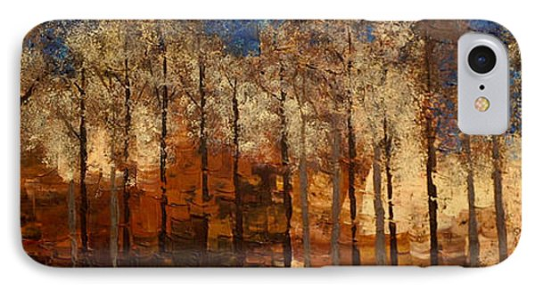 IPhone Case featuring the painting Fire On The Mountain by Linda Bailey