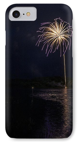 Fire On The River Purple Phone Case by Tim Radl