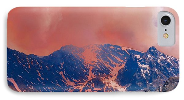 Fire On The Rocky Mountains IPhone Case by Dan Sproul