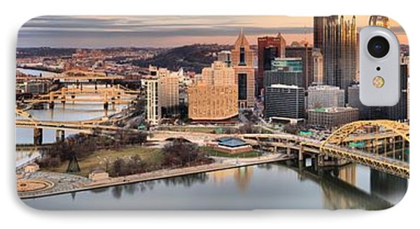 Fire Over The Pittsburgh Skyline IPhone Case