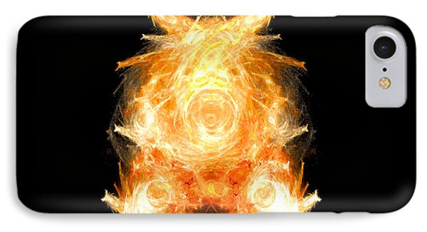 IPhone Case featuring the digital art Fire Pig by R Thomas Brass