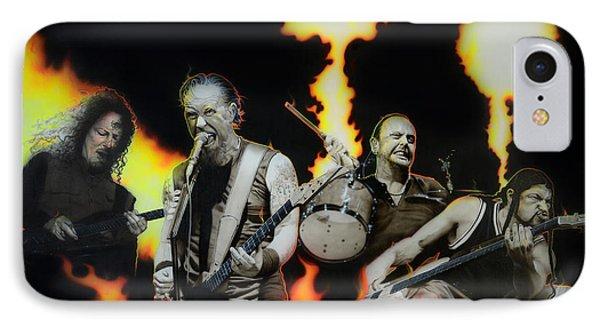Metallica - ' Fire Rain On Me ' Phone Case by Christian Chapman Art