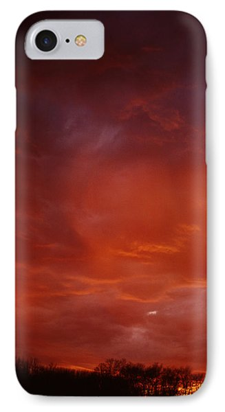 IPhone Case featuring the photograph Fire Sky by Christopher McKenzie