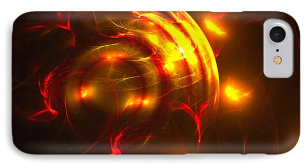 IPhone Case featuring the digital art Fire Storm by Victoria Harrington
