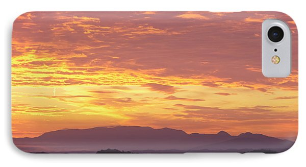 Fire Sunset Over Smoky Mountains Phone Case by Kay Pickens