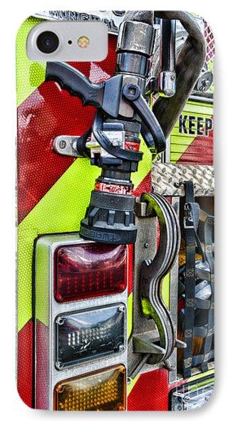 Fire Truck - Keep Back 300 Feet Phone Case by Paul Ward