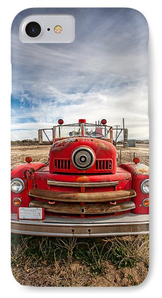 Fire Truck IPhone Case by Peter Tellone