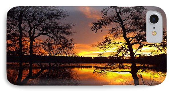 Sunrise Fire IPhone Case by Dianne Cowen