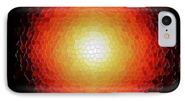 Fireball Sunburst A Tiffany Look Stain Glass Phone Case by Andee Design