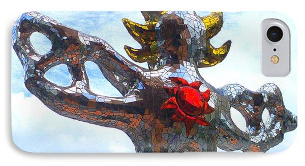 Firebird Heart IPhone Case by Randall Weidner